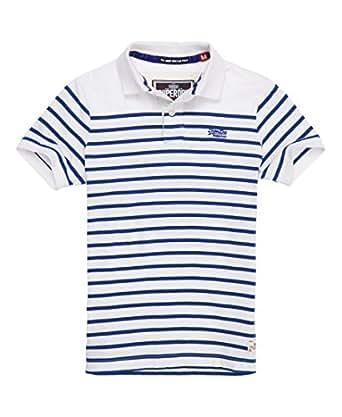 The Drop Breton Polo Men's Superdry Striped Polo Shirt at Amazon Men