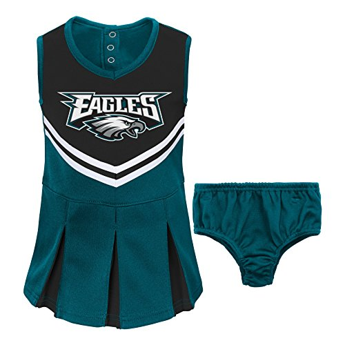 Nfl Philadelphia Eagles Girl'S Newborn Infant Two Piece Cheerleader Outfit, 7#, 0-3 Months, Jade front-399914