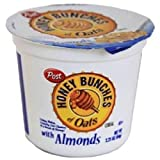 POST HONEY BUNCH OF OATS CEREAL IN CUP ALMOND 2.25 Oz Each ( 6 In A Pack )