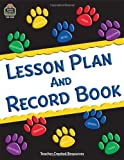 "Teacher Created Resources Paw Prints Lesson Plan and Record Book with Monthly Planner, 160 Pages, 8-1/2"" x 11"""