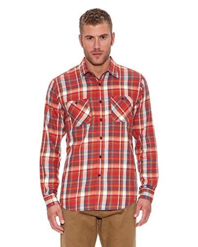 Dockers Camicia Uomo Alpha The Flannel [Rosso]