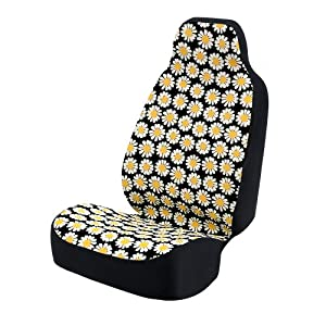 coverking universal fit 50 50 bucket flower fashion print seat cover daisy crazy. Black Bedroom Furniture Sets. Home Design Ideas