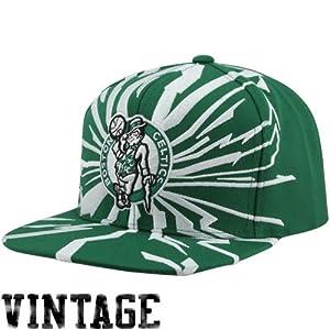 Mitchell & Ness Earthquake Boston Celtics Green & White Snapback by Mitchell & Ness