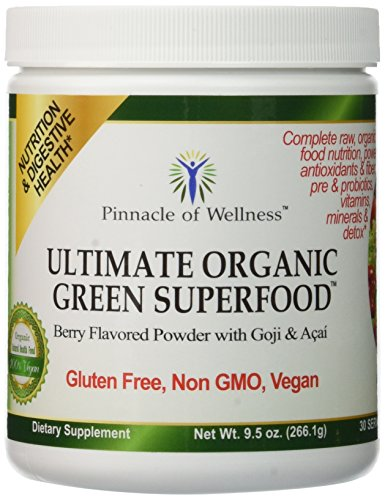 Pinnacle of Wellness Ultimate Organic Green Superfood Powder - Berry Flavor - 30
