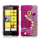 Aimo NK521PCLDI636 Dazzling Diamond Bling Case for Nokia Lumia 521 - Retail Packaging - Pearl Pink