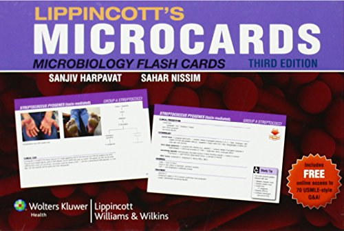 Lippincott's Microcards: Microbiology Flash Cards (Micro Flash Cards compare prices)
