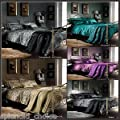 5 Piece Wild Life Bedding Set - Bed in a Bag (Purple, King)