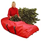 56 Heavy Duty Red Rolling Artificial Christmas Tree Storage Bag for 7.5' Trees