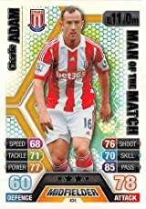 Match Attax 2013/2014 Charlie Adam Stoke City 13/14 Man Of The Match