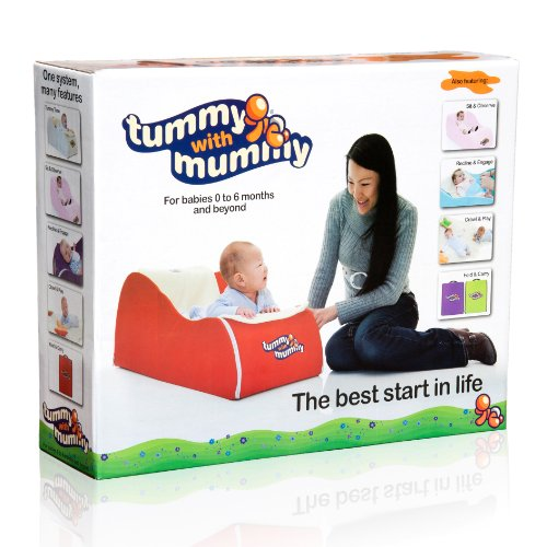 Tummy With Mummy® 5-in-1 foldaway tummy time activity centre (Red, birth to 6 months and beyond)