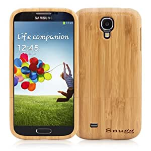 Snugg Galaxy S4 Real Bamboo Wood Case - Slim Profile with Protective Hard Case and Environmentally Friendly for Samsung Galaxy S4