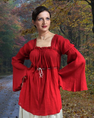 Pirate Wench Peasant Renaissance Medieval Costume Blouse