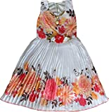 Cute Fashion Kids Girls Baby Princess Sifone Party Wear Flower Dresses Clothes for 3 months to 7 Years (Orange, 12-18 Months)