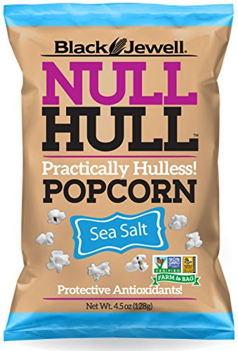 Black Jewell Null Hull Popcorn - Sea Salt - 4.5 oz Bag - Pack of 4 (Black Jewell Microwave Popcorn compare prices)