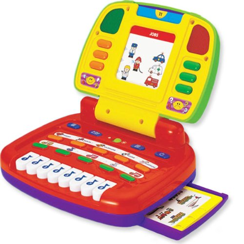 """Megcos Carry-Along Musical """"My Computer"""" -Affordable Gift for your Little One! Item #LMID-1211"""