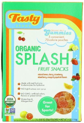 Gluten Free Organic Sport Fruit Snack Gummies, Variety Flavours, 5 Pouches, 0.8 oz (23 g) Each