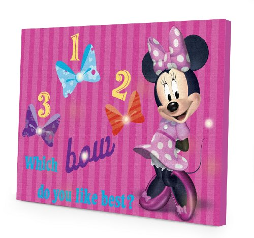 Disney Minnie Mouse LED Canvas Wall Art, 15.75-Inch x 11.5-Inch (Minnie Mouse Pictures compare prices)