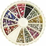 MBox 2400 1mm & 2mm Round Nail Art Rhinestone Wheel Kit