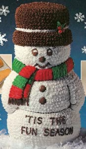 Wilton 3-D Stand Up 3D Snowman Christmas Holiday Cake Pan (2105-1394, 1984) Retired