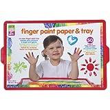 ALEX Toys ALEX Jr. Finger Paint Paper and Tray