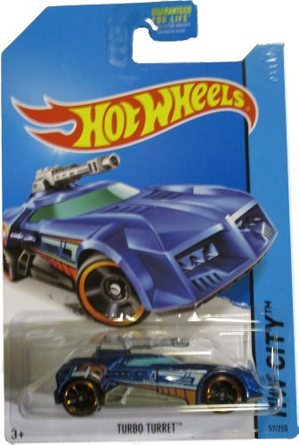 Hot Wheels 2014 Hw City Future Fleet Blue Turbo Turret 57/250 - 1