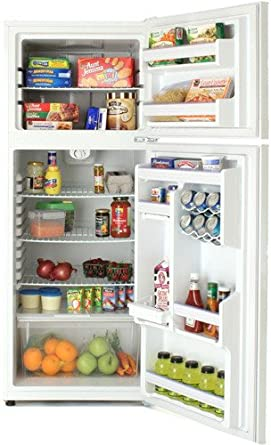 "Summit FF1274IM: Large capacity frost-free refrigerator-freezer in slim 24""width, with factory-installed icem"
