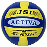 JSI Soft PU Volleyball (4, Blue & Yellow)