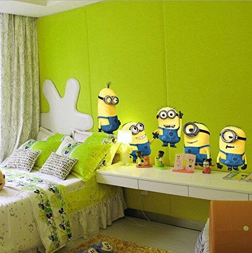 Chawanut - Adesivi da parete per cameretta dei bambini, mod. Minions ...