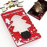 【クリスマス限定★お配りにも♪】LEDでパッと明るいクリスマスツリー型カード DOULEX LED Light Christmas tree Pocket Card