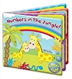 Baby First Steps Floating Bath Books Educational Fun Bath Toy Numbers In The Jungle
