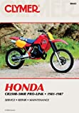 Honda CR250-500R Prolink, 1981-87: Clymer Workshop Manual E. Scott