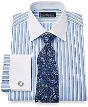 Paul Fredrick Men39s 100 Cotton Spread Collar French Cuff Dress Shirt