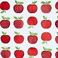 """Wachstuch Tischdecke Wachstischdecke Gartentischdecke, Abwaschbar Meterware, Länge wählbar, """"Red Apples"""" Äpfel Rot Weiß (623-02) von MODERNO bei Gartenmöbel von Du und Dein Garten"""