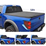 Tyger Auto T3 Tri-Fold Truck Bed Tonneau Cover TG-BC3C1006 works with 2014-2019 Chevy Silverado/GMC Sierra 1500 | Fleetside 5.8' Bed | For models without Utility Track System