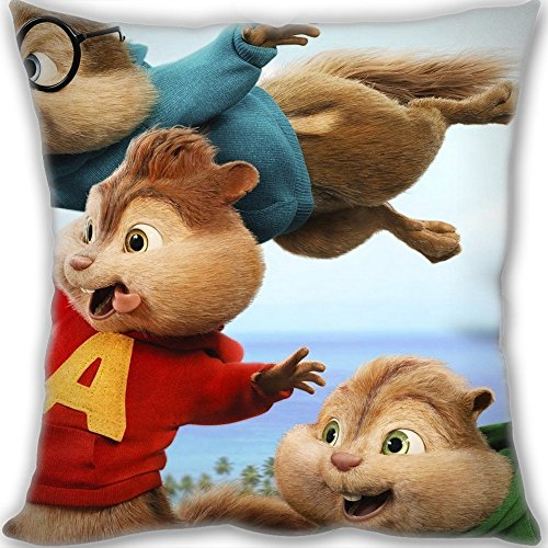Black Friday Promotions Custom Alvin And The Chipmunks The Road Chip Poster Throw Pillow 6060cm(2424inch) Big Size 900g(1.98lb) (include Pillow Inner)