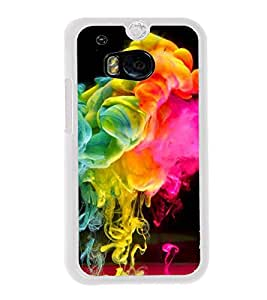 Colour Spurt 2D Hard Polycarbonate Designer Back Case Cover for HTC One M8 :: HTC M8 :: HTC One M8 Eye :: HTC One M8 Dual Sim :: HTC One M8s