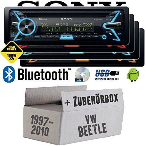 VW Beetle 1 9C - Sony MEX-XB100BT - Bluetooth | CD | MP3 | USB | 4x100 Watt Autoradio - Einbauset