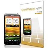 amFilm (TM) Premium Screen Protector Film Clear (Invisible) for HTC One X (3 Pack) (in AM retail packing)