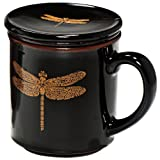Black Dragonfly Infuser Mug
