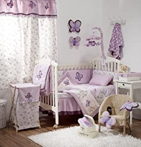 Amazon.com - [Butterfly Purple] Crib Baby Girl Bedding Sets Crib ...