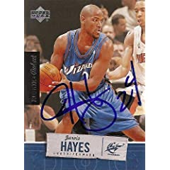 Jarvis Hayes Autographed Hand Signed Basketball Card (Washington Wizards) 2005 Upper...