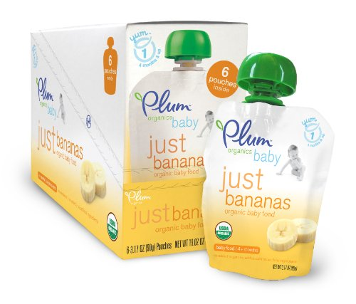 Deal Plum Organics Just Fruit, Bananas, 3.17-Ounce Pouches (Pack of 12) Reviews