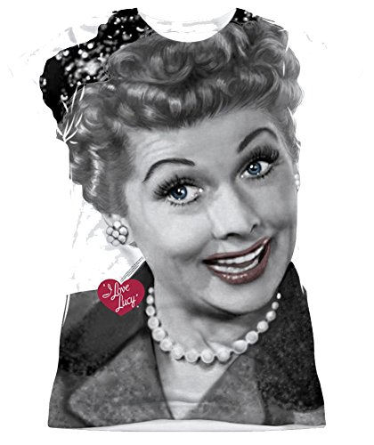 I Love Lucy Timeless Junior Fit All Over Front T-Shirt