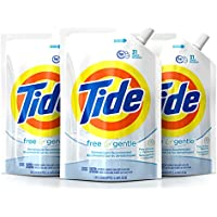 3-Pack Tide Smart Pouch Free & Gentle HE Liquid Laundry Detergent