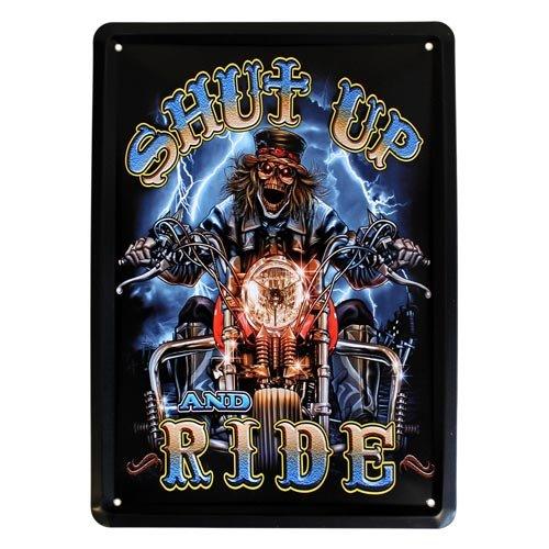 placa-metalica-para-puerta-o-pared-diseno-retro-con-moto-y-texto-en-ingles-shut-up-ride