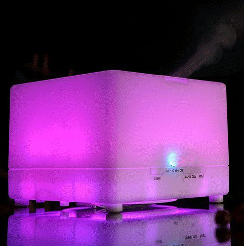 Nascco 700ml Large Capacity Aroma Atomizer Air Humidifier LED Ultrasonic Purifier Diffuser for Home, Office and Bedroom