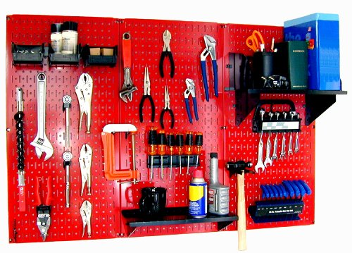 Galvanized Steel Pegboard Tool Organizer for the Wall
