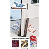 Twin Draft Guard W/3 Free Covers Door/Window Energy Saving As Seen On TV (Brown)