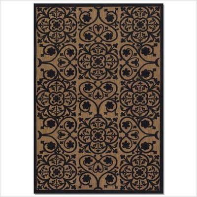Couristan 5781/0010 URBANE Lafayette 36-Inch by 65-Inch Polypropylene Area Rug, Tan/Charcoal