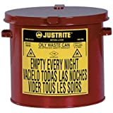 Justrite Oily Waste Galvanized Steel Safety Can